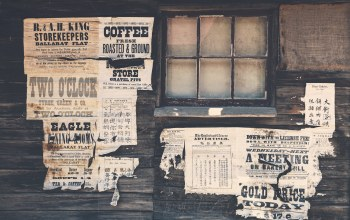 wood,paper,wild west,wall,advertisements