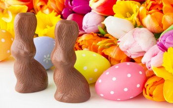 Easter,decoration,happy,eggs,spring,яйца,цветы,tulips