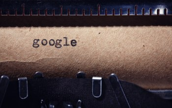 Google,paper,ink,typewriter