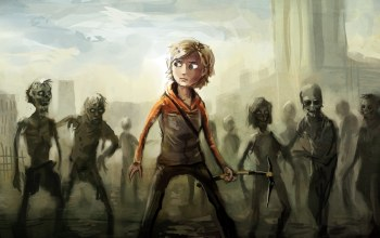 the walking dead,game,molly,zombies,ходячие мертвецы
