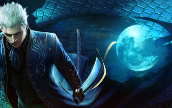 vergil,Devil may cry 4: special edition,полнолуние,Devil may cry,ночь