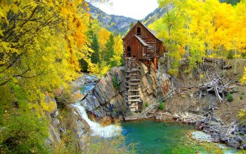 colorado,скалы,сша,осень,Crystal mill