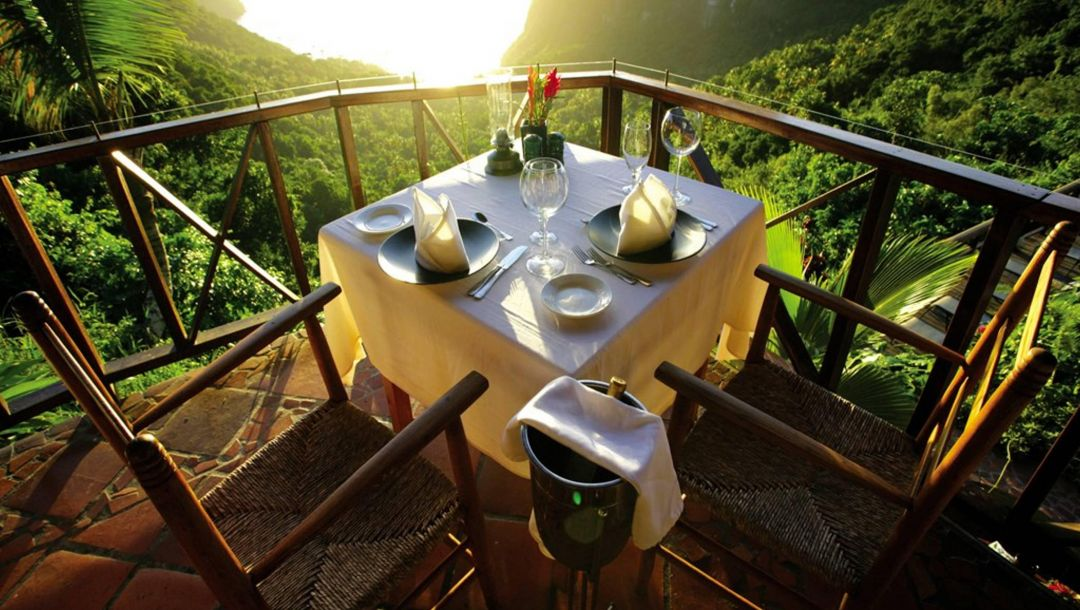 карибские острова,table for two,view,mountain,saint lucia,Caribbean islands