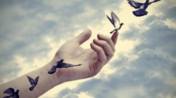 doves,peace,hand,arm,tattoo,freedom,illusion,effect