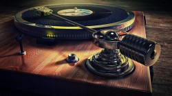 музыка,фон,Old style record deck