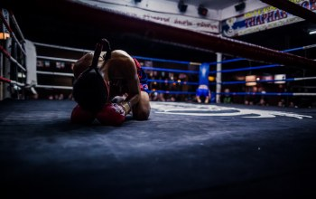 Boxing ring,before fighting,thailand