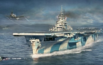 World of warship,yorktown,u.s.s.,cv-10,авианосец,Корабли