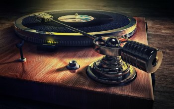 Old style record deck,музыка