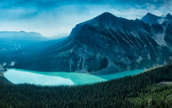 mountain,alberta,forest,Lake louise,canada