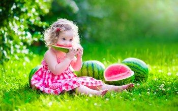 summer,baby,pretty,happy,watermelon,beautiful,Little girl,child,dress