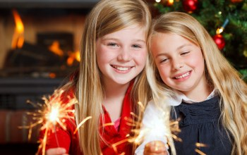 little girls ,child,children, sparklers ,lights,happy,merry christmas,smiling