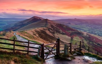 england,Peak district,холмы