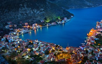 Kastellorizo,greece,греция,бухта,посёлок,дома,остров