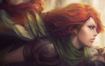 hero,Windranger,лучница,Windrunner,Red