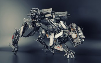 Animal,robot,cg,police