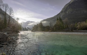 slovenia,soca river,Glory morning