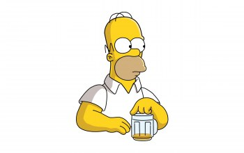 Beer,homer,the simpsons,Homero,look,pose