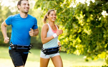 couple,laughing,running,physical activity