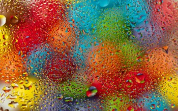 colorful,rain,rainbow,шарики,water,drops,Вода,стекло,капли,glass