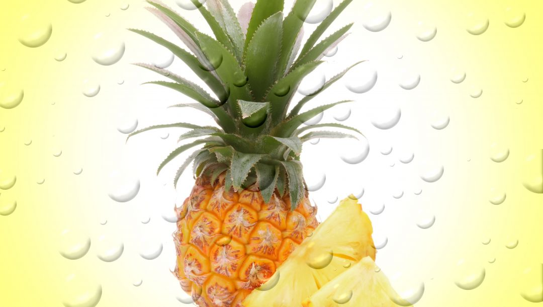 fruit,капли,пузыри,pineapple,drops,фрукт,ананас,background