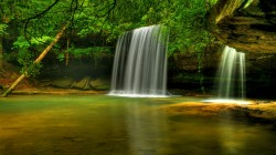 водопад,bankhead national forest,Caney creek falls