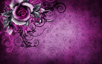 Purple,vintage,texture,Floral,wallpaper,винтаж,rose,grunge,paper