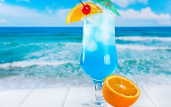 fruits,curacao,drink,blue,cocktail,orange,коктейль,tropical