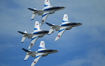 группа,blue impulse,пилотажная,Kawasaki t-4