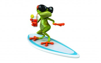 Лягушка,Surf ,funny,glasses,Frog
