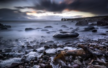 long exposure,scotland,Stormy sunset
