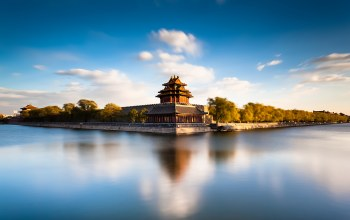 китай,Beijing forbidden city moat,архитектура