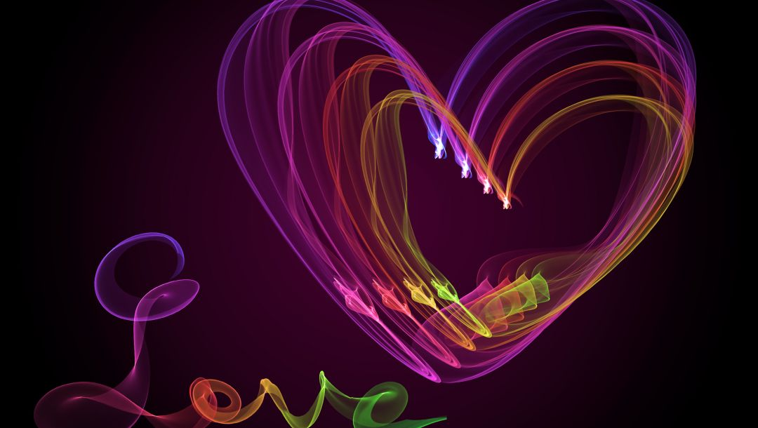 Fractal,heart,Abstract,colors