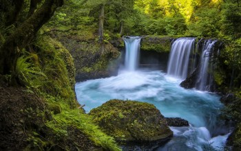 Spirit falls,little white salmon river,washington,columbia river gorge