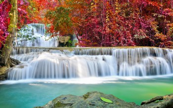 autumn,river,waterfall,water,emerald,flow