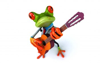 funny,guitar,Frog,Лягушка