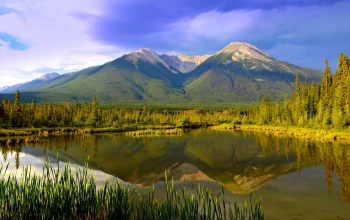 alberta,canada,canadian rocky mountains,Vermilion lakes