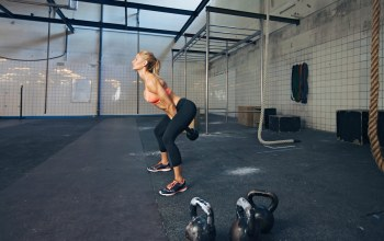 workout,russian dumbbell,crossfit,blonde
