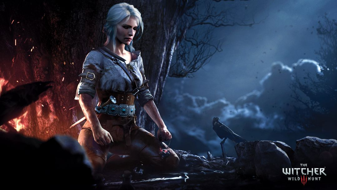 медитация,ciri,the witcher,ночь