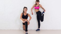 Fitness,workout,group,sportswear,stretching