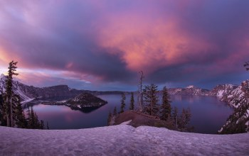 Кратер,crater lake national park,остров