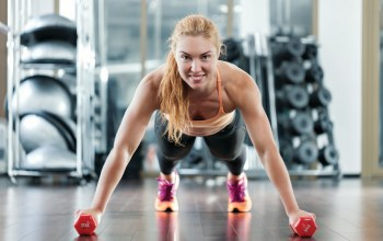dumbbells,workout,pose,Pushups
