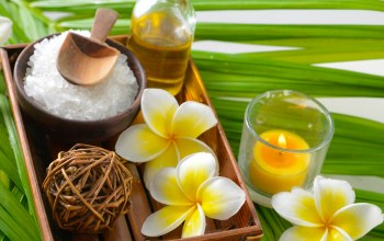 Spa,salt,oil,plumeria,zen
