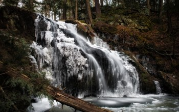 Nonnewaug falls,connecticut,woodbury,водопад