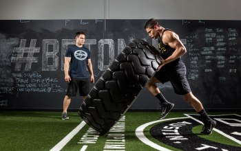 strength,giant tire,pose,crossfit