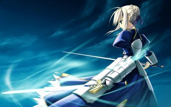 type-moon,ветер,fate/stay night ,saber