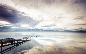 lake geneva,Sunrise over lac leman,Switzerland,near lausanne