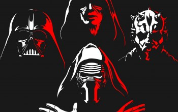 kylo ren,Darth vader,White,Darth maul,Red