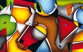 Color,composition,line,Face,geometry,Horses,figure