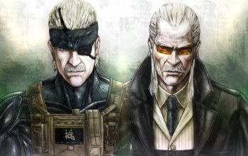 Solid snake,liquid ocelot,metal gear solid 4: guns of the patriots,konami,Revolver ocelot