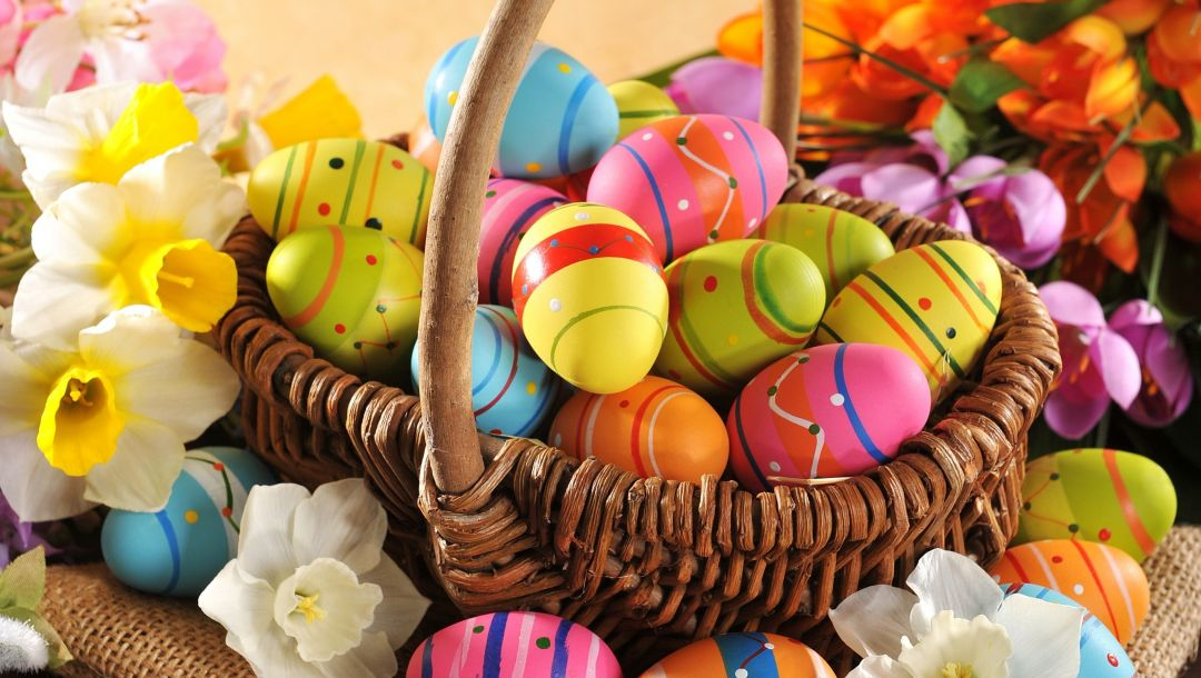 Easter,wood,яйца,colorful,happy,holiday,цветы,spring,eggs